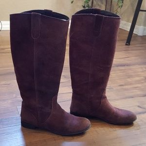 BDG (Urban Outfitters)- Wine Suede Knee High Boots